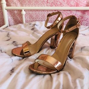 BAMBOO Shoes - Rose Gold Heels ♡